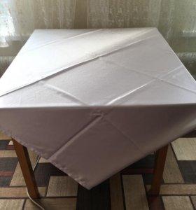 Скатерти атласные белые - 9 штук
