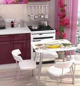 """Кухонный стол """"Стендмебель"""" с фотопечатью"""