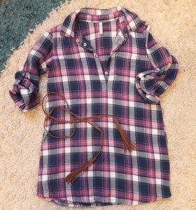 Платье-рубашка, размер 122