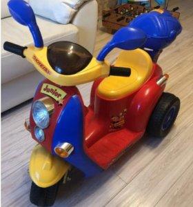 Электромотоцикл kreiss для детей от 3 летдо 6 лет
