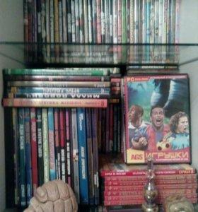 Диски с фильмами и играми