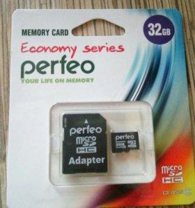 Новая карта памяти Micro SDHC 32 Gb 10 класс