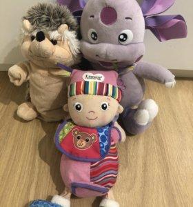Лунтик, кукла Lamaze и ёжик