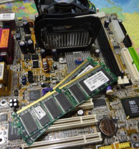 Celeron 2.2 Ghz + 512 ОЗУ + Материнка 478