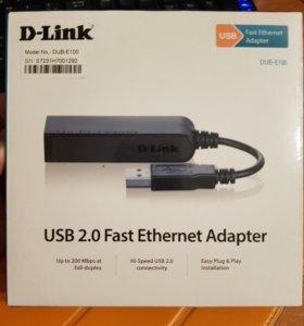 Сетевая карта D-Link DUB-E100 10/100MBps USB