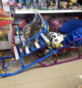 Санки Тимка 5 с колёсиками
