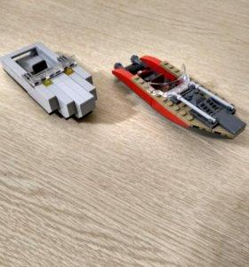 Лего лодки бронебойная и моторная