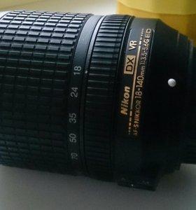 Объектив 18-140 мм никон