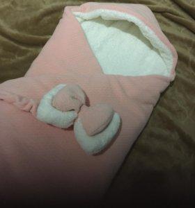 Конверт для новорождённых зима