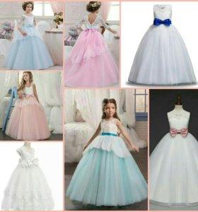Новые нарядные платья для девочек