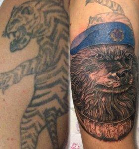 Художественная татуировка , cover-up, реставрация