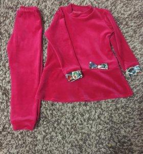 Велюровый костюм на 3г.Туника и штаны