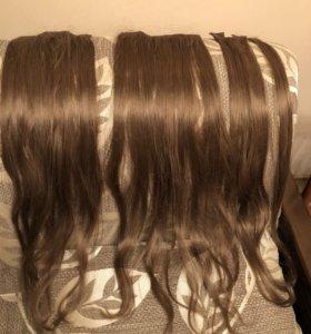 Тресы волосы на заколках