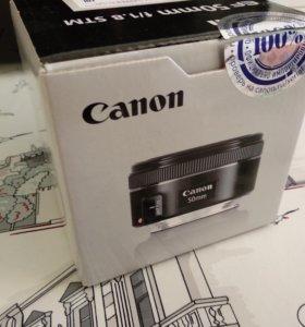 Объектив Canon 50mm 1.8 STM