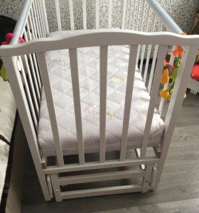 Кроватка с продельным маятником