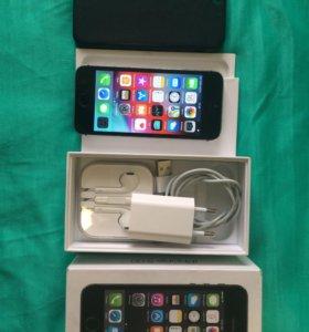 iPhone 5S, 16 Gb, Наушники ,чек