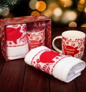 Новогодний набор кружка+полотенце