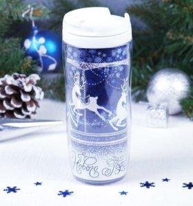 Новогодний набор Термостакан + кофе