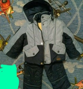 Зимний костюм на мальчика 1-2 года