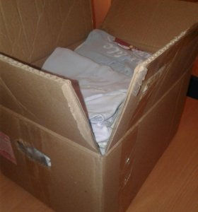 Коробка детских вещей 0 до года.