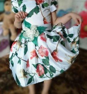 платья на девочку 3-4 лет(б/у)