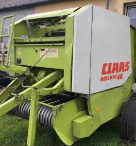 Пресс подборщик Claas Rollant 46 класс рулонный