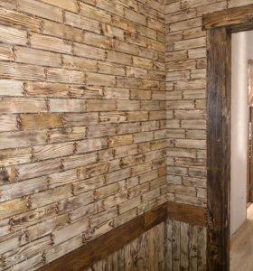 стеновой паркет, отделка стен деревом