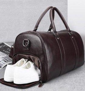 Мужская спортивная кожаная сумка. Магазин