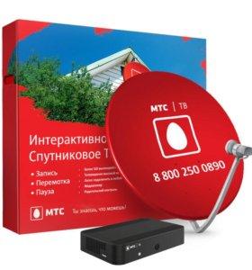 Установка спутникового и эфирного тв МТС, Триколор