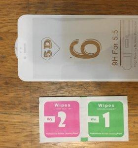 Стекло 5D на Iphone 6 pluse