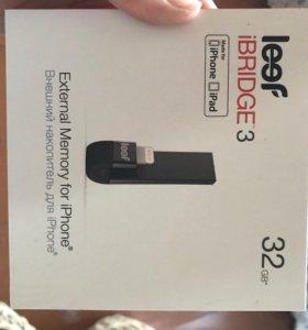 Флэш-накопитель Leef iBridge3 32 ГБ, черный новый
