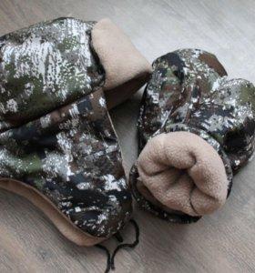 Комплект ушанка и рукавицы