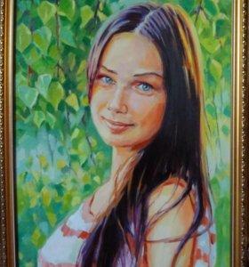 Портрет по фото, натюрморт, пейзаж.
