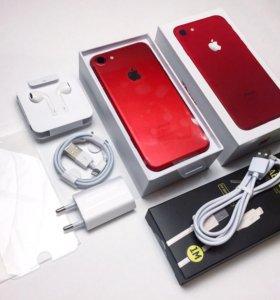 iPhone red 7/32 с аксессуарами в подарок
