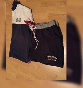 Футболка и шорты 56 размер