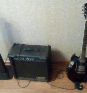 Электро Гитара с Комбиком на 65 очень мощный.