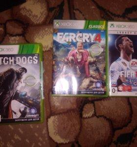 Xbox 360 + Kinect+ 2джоста и 4 игры