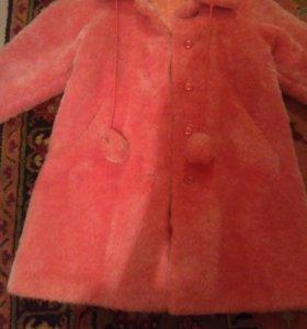 Новая розовая шуба для девочки