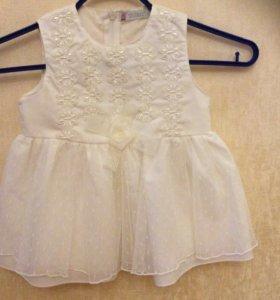 Нарядное платье для маленькой принцессы 6-9 мес