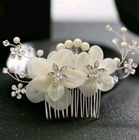 Свадебный гребень в волосы