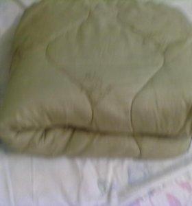 Одеяло 2 спалка из овечьи шерсти.