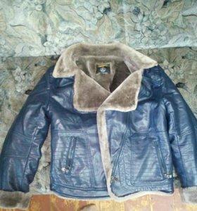 Куртка зимняя коженая