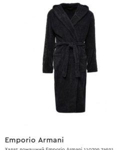 Новый халат и тапочки Emporio Armani