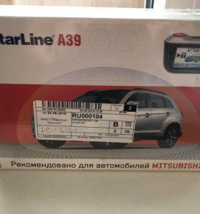 сигнализация Starline А39 с автозапуском