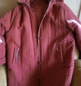 очень теплая куртка,на синтепоне