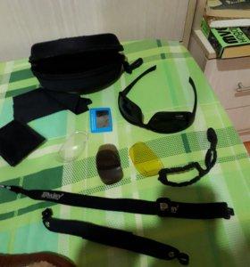 Спортивные поляризационные очки с аксессуарами