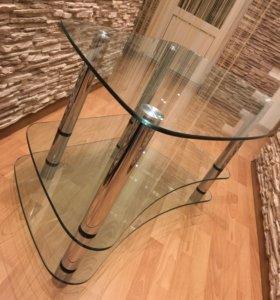 Стол под телевизор стеклянный