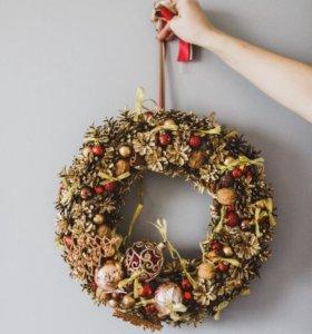 Рождественский декор Новогодние композиции, венки