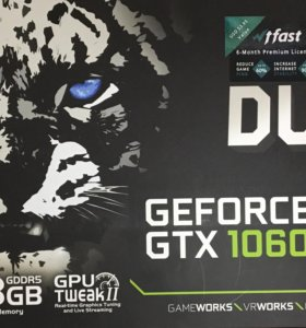 Видеокарта ASUS GeForce GTX 1060 DUAL OC