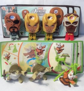 Игрушки из Киндера Марвел Marvel, Кунг-фу Панда